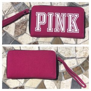 VS PINK Wristet/clutch zip around - like new!